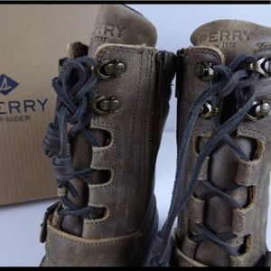 21e8e42fc87 Sperry Shoes - Sperry Saltwater Misty Duck Boots Side Zipper NIB